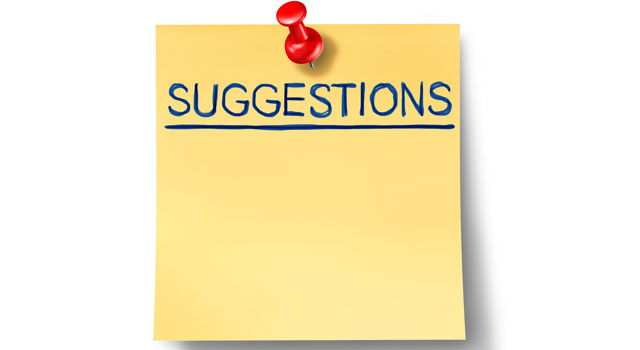 suggestions pad
